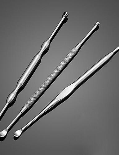 povoljno Njega uha-3pcs od nehrđajućeg čelika ušica za uklanjanje voska curette čistač za zdravstvenu zaštitu alat za uho pokupiti novi dolazak