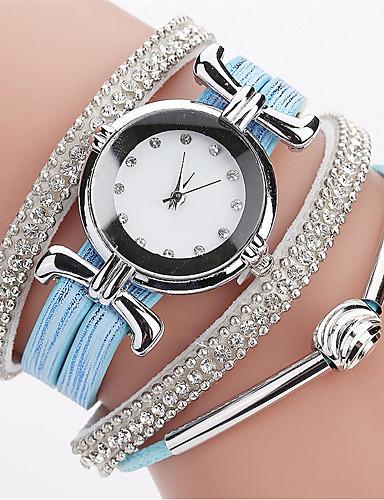 Women's Bracelet Watch / Simulated Diamond Watch Chinese Imitation Diamond PU Band Casual / Bohemian / Fashion Black / White / Blue / One Year / SSUO LR626