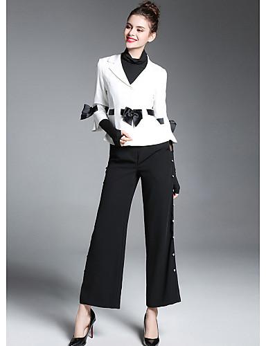 ZIYI Women's Street chic Suits - Color Block Shirt Collar