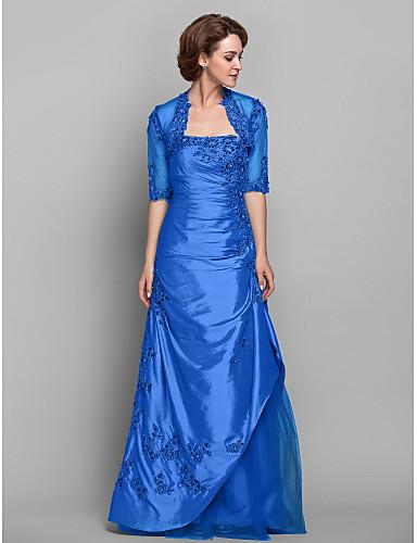 5dcf4ecb4e88 Χαμηλού Κόστους Φορέματα για Καλεσμένους σε Γάμο-Γραμμή Α Στράπλες Μακρύ  Ταφτάς   Δαντέλα χάντρες