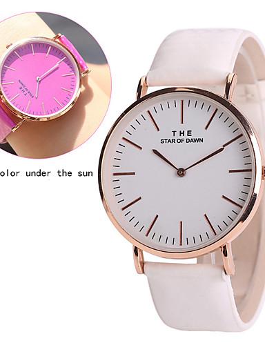 Women's Wrist Watch Casual Watch Leather Band Casual / Fashion / Unique Creative Watch Blue / Purple / Rose / One Year / Tianqiu 377