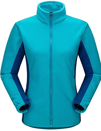 cheap Outdoor Clothing-Men's Women's Hiking Fleece Jacket Outdoor Autumn / Fall Winter Warm Winter Fleece Jacket Fleece Full Length Visible Zipper Camping / Hiking Casual Camping / Hiking / Caving Navy / Royal Blue