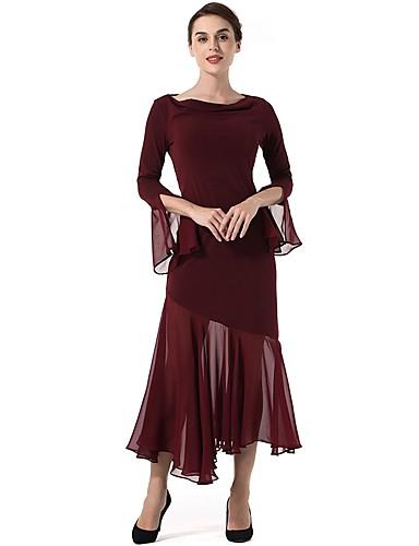 Women's Bodycon / Swing Dress - Solid Colored Split Cowl Neck / Fall / Sheer