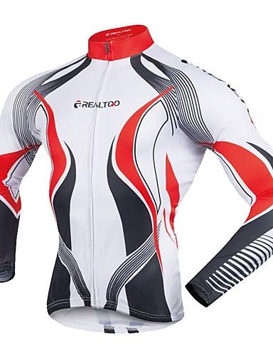 hesapli Bisiklet Formaları-Realtoo Erkek Uzun Kollu Bisiklet Forması Bisiklet Forma Üstler Spor Dalları polyester Dağ Bisikletçiliği Yol Bisikletçiliği Giyim / Streç