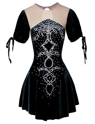 Robes Robe De Artistique Fille Vert Patinage Femme r7X7w4x