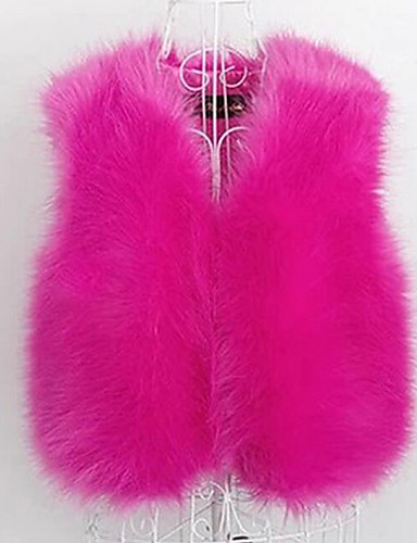 Women's Work Active Faux Fur Fur Coat - Solid Colored