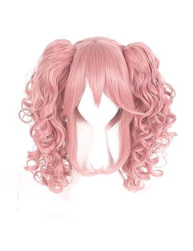 levne Cosplay paruky-Cosplay cosplay Školky Cosplay Paruky Pánské Dámské 16 inch Horkuvzdorné vlákno Růžová Anime