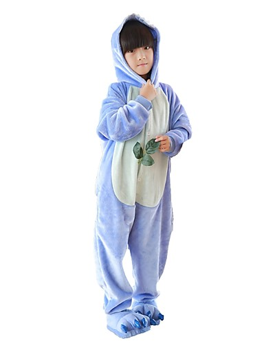 5e9c80f0 Kid's Kigurumi Pajamas Anime Blue Monster Onesie Pajamas Flannel Fabric  Pink / Blue Cosplay For Boys and Girls Animal Sleepwear Cartoon Festival /  Holiday ...