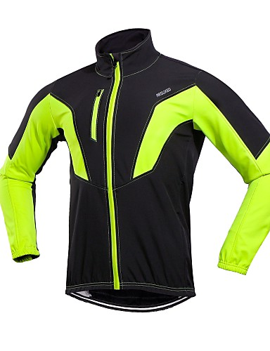 cheap Cycling Clothing-Arsuxeo Men's Cycling Jacket Bike Winter Jacket Windproof Sports Winter Red / Green / Blue Mountain Bike MTB Road Bike Cycling Clothing Apparel Relaxed Fit Bike Wear / Stretchy
