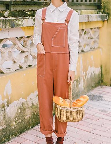 Damen Street Schick Hohe Hüfthöhe Mikro-elastisch Hosen Hose Herbst Solide