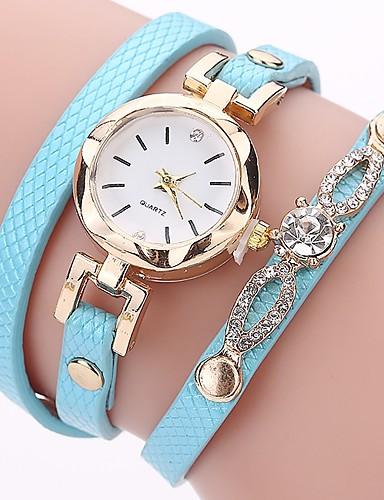 Damskie Kwarcowy Sztuczny Diamant Zegarek Zegarek na bransoletce Chiński sztuczna Diament PU Pasmo Na co dzień Artystyczny Modny Czarny