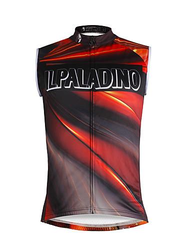 cheap Cycling Clothing-ILPALADINO Men's Sleeveless Cycling Jersey - Jacinth +Gray Rainbow Bike Vest / Gilet Jersey Tank Top Quick Dry Sports Eco-friendly Polyester 100% Polyester Mountain Bike MTB Road Bike Cycling