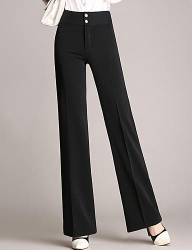 Damen Übergrössen Breites Bein Hose, Polyester Solide