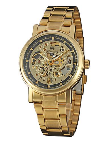 FORSINING Męskie Nakręcanie automatyczne Zegarek na nadgarstek Gorąca wyprzedaż Stal nierdzewna Pasmo Na co dzień Modny Nowoczesne