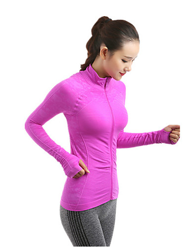 7c4498ddca4b44 Women s Running Jacket Sky Blue Forest Green Pink+Red Sports Jacket Top Yoga  Pilates Exercise   Fitness Long Sleeve Activewear Windproof Breathable  Quick ...