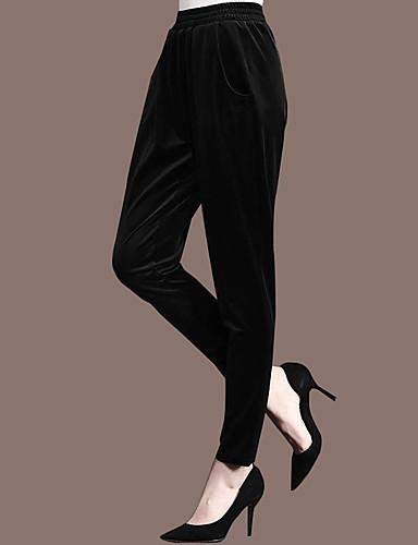 Damen Einfach Mittlere Hüfthöhe Mikro-elastisch Hosen Hosen Hose Solide