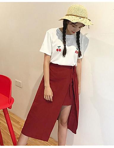 Damen Niedlich Lässig/Alltäglich Midi Röcke einfarbig Herbst