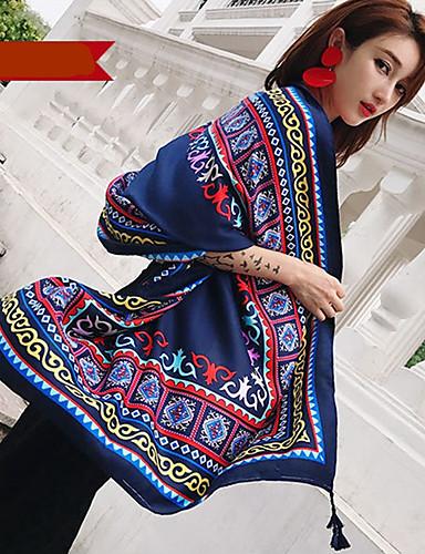 abordables Accessoires Femme-Femme Coton / Lin Rectangle Peinture