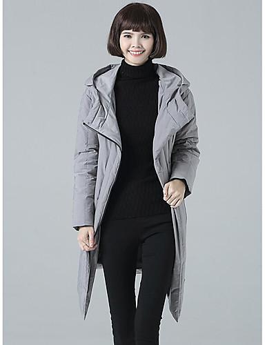 Damen Gefüttert Mantel Retro Ausgehen Solide-Baumwolle Langarm