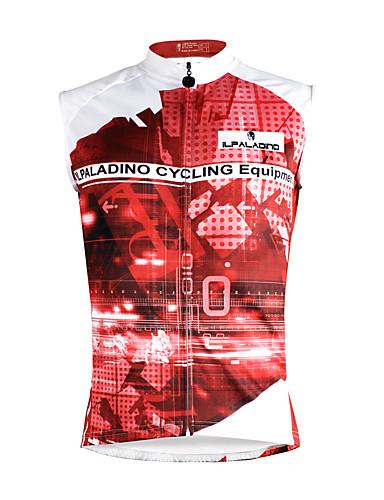 cheap Cycling Clothing-ILPALADINO Men's Sleeveless Cycling Jersey - Dark Pink Rainbow Bike Vest / Gilet Jersey Tank Top Quick Dry Sports Eco-friendly Polyester 100% Polyester Mountain Bike MTB Road Bike Cycling Clothing
