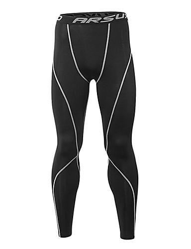 002a16a2b رخيصةأون الركض و المسار-Arsuxeo رجالي بنطال ضاغط تايتس للجري ليجينجز رياضي  أسود أصفر فاتح