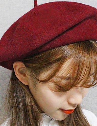 abordables Sombreros de mujer-Mujer Elegante, Lana Sombrero Fedora - Vintage Un Color