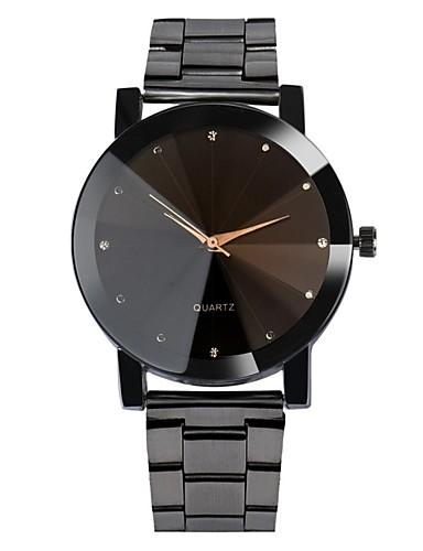 Bărbați Ceas de Mână Quartz Oțel inoxidabil Negru / Argint Rezistent la Apă Cool Analog Clasic Casual Boem Modă - Negru Argintiu Un an Durată de Viaţă Baterie