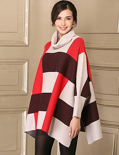Damen Einfach Langarm Mantel / Capes - Einfarbig Ständer