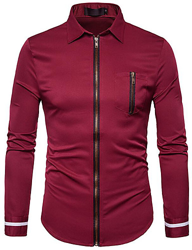 Koszula Męskie Moda miejska Jendolity kolor