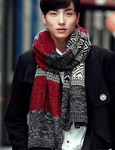 Недорогие Мужские шарфы-Муж. Классика / Классический Прямоугольная Решетка