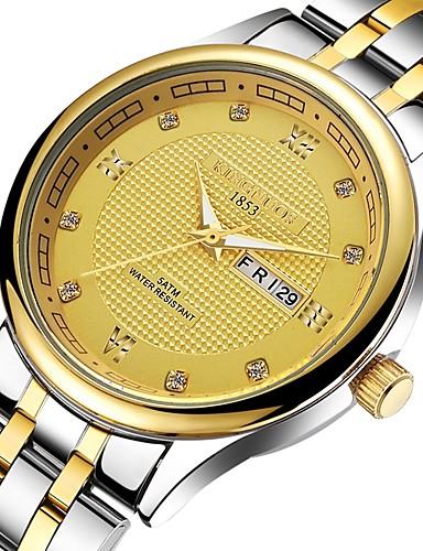 Dla par Zegarek na nadgarstek Chiński Stal nierdzewna Pasmo Na co dzień Złoty