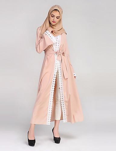 Damen Lässig/Alltäglich Etuikleid Maxi Kleid Solide V-Ausschnitt Langarm Winter Herbst