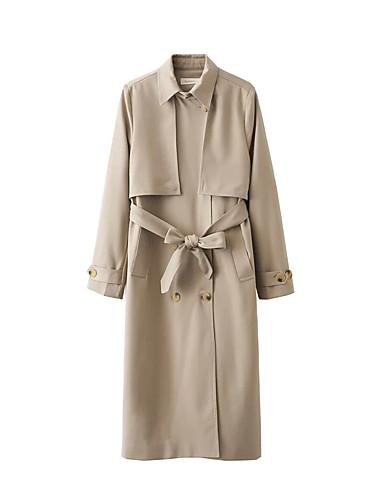 Damen - Solide Einfach / Freizeit Mantel Baumwolle