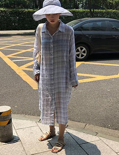 Damen Verziert Street Schick Ausgehen Lässig/Alltäglich Hemd,Hemdkragen Herbst Langarm Baumwolle