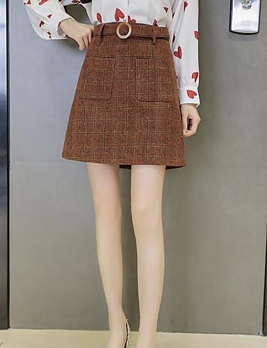Damen Schultaschen Ausgehen Über dem Knie Röcke Geometrisch Winter