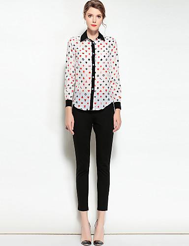 Koszula Damskie Vintage, Nadruk Kołnierzyk koszuli