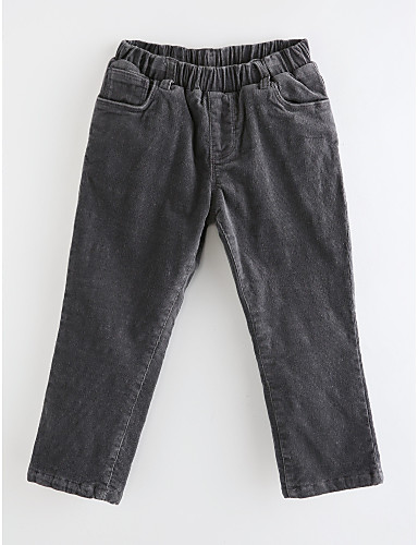 Spodnie Bawełna Dla dziewczynek Jendolity kolor Groszki Prążki Wiosna, jesień, zima, lato Dark Gray