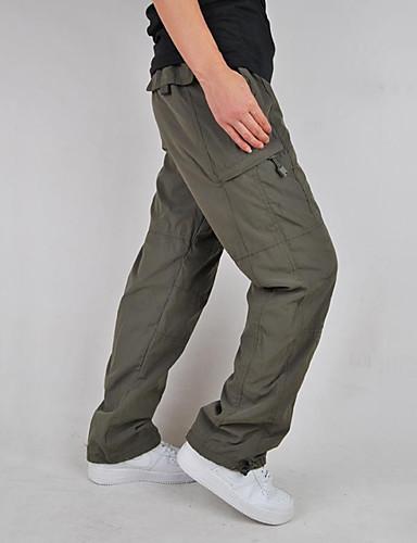 f133709377 Men's Solid Color Hiking Cargo Pants Outdoor Windproof Fleece Lining  Multi-Pocket Wear Resistance Winter Cotton Pants / Trousers Hiking Climbing  Multisport ...