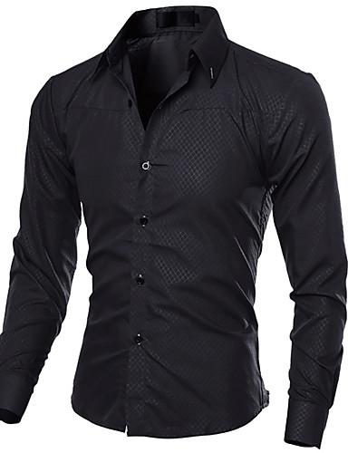 Koszula Męskie Biznes Szczupła - Jendolity kolor