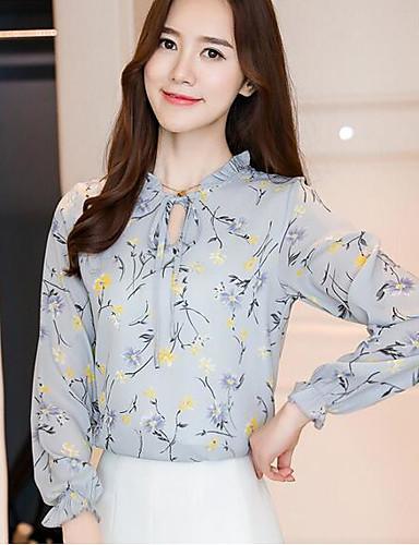 aad61e0c54 Mulheres Blusa - Trabalho Moda de Rua Estampado