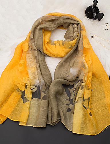 abordables Accessoires Femme-Femme Coton / Polyester Rectangle Broderie / Fleur