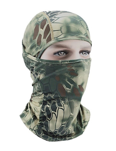 cheap Cycling Clothing-Balaclava Pollution Protection Mask Camo / Camouflage Warm Bike / Cycling Mineral Green Camouflage Khaki Polyester for Men's Women's Adults' Camping / Hiking Ski / Snowboard Cycling / Bike