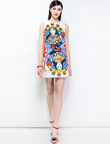 דפוס, פרחוני - שמלה גזרת A בוהו בגדי ריקוד נשים