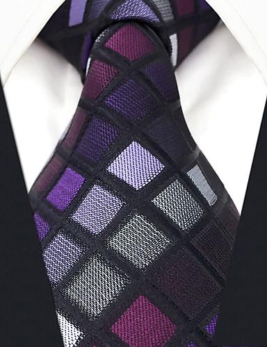 עניבת צווארון - קולור בלוק משובץ דמקה סרוג חוטי זהורית סגנון מודרני עבודה בסיסי בגדי ריקוד גברים