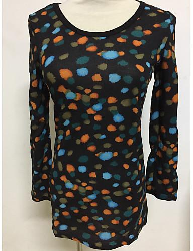 גיאומטרי - סוודר שרוול ארוך בגדי ריקוד נשים
