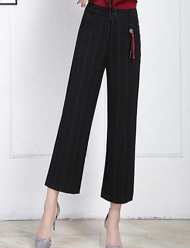 בגדי ריקוד נשים כותנה צ'ינו מכנסיים - גיזרה גבוהה אחיד / סתיו / חורף