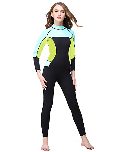 HISEA® Women s Full Wetsuit 3mm SCR Neoprene Diving Suit Long Sleeve Back  Zip Classic Spring Summer Winter 41ff0e4b9