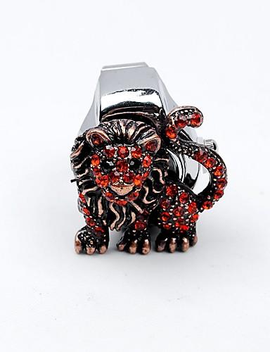 לזוג שעון טבעת Chinese חריתה חלולה / שעונים יום יומיים / מגניב סגסוגת להקה פאר / יום יומי / גולגולת כסף