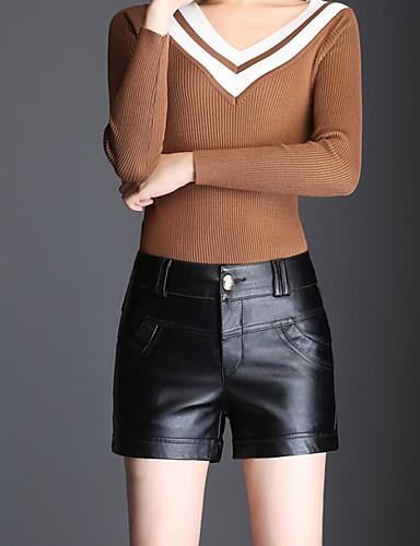 בגדי ריקוד נשים שורטים מכנסיים - גיזרה גבוהה אחיד