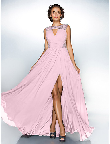 4680bbffb8 cheap Evening Dresses-Build the Wall Dress Style A-Line Jewel Neck Sweep